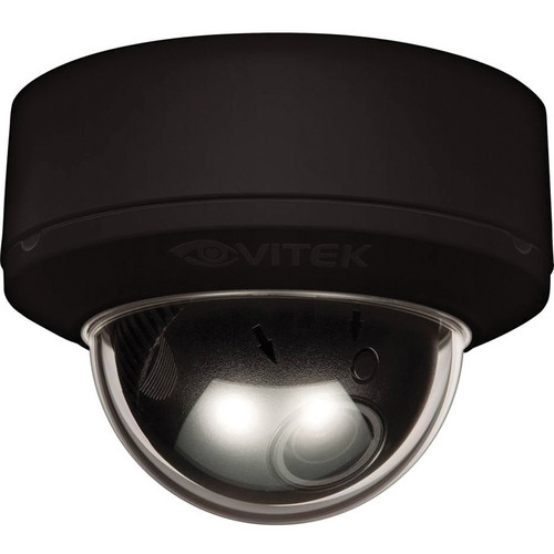 Vitek 700 TVL 2.8 to 10mm Day&Night with ICR WDR Indoor Mighty Dome Camera (Black)
