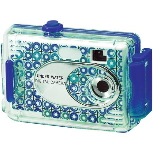Vivitar AquaShot Underwater Digital Camera (Patterned Turquoise/Blue)