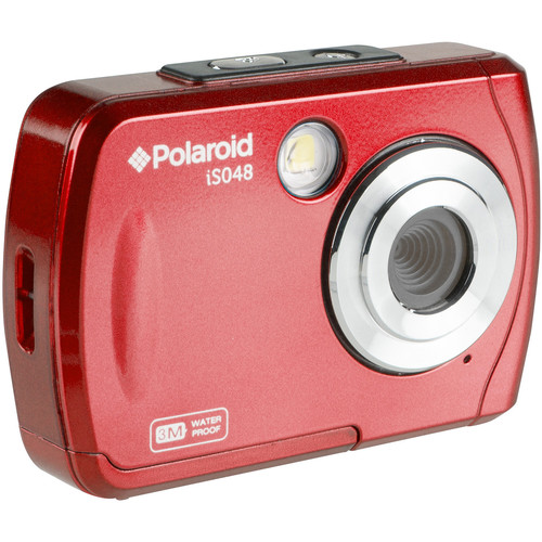 Polaroid iS048 Digital Camera (Red)