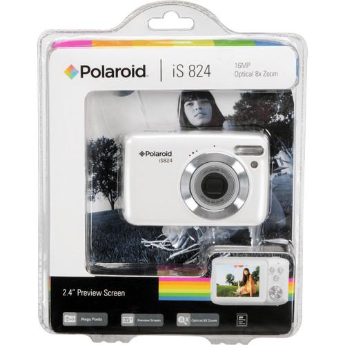 Polaroid iS824 Digital Camera (White)
