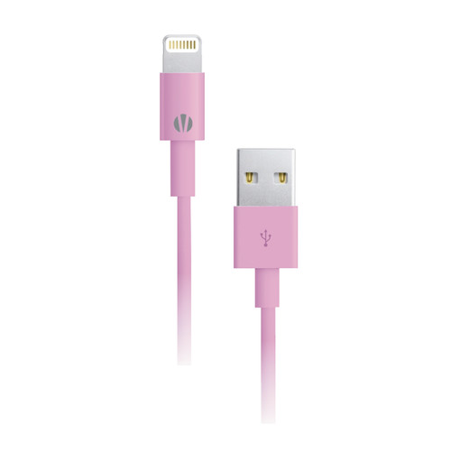Vivitar 3' Lightning Connector to USB Cable (Pink)