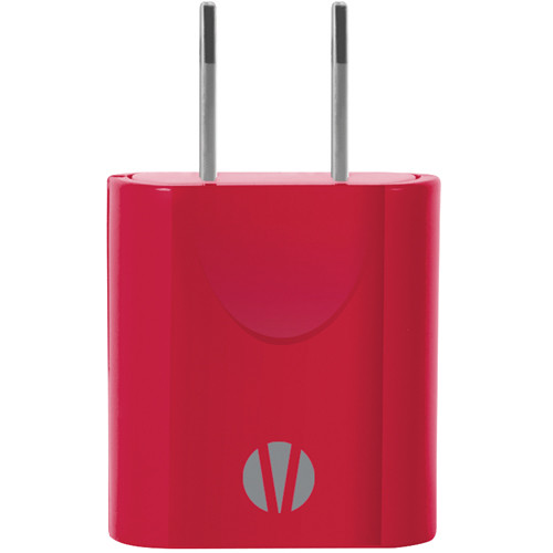 Vivitar 1 Amp USB Wall Power Adapter (Red)