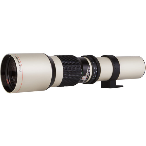 Vivitar 650-1300mm f/8 Telephoto Zoom Lens for T-Mount (White)