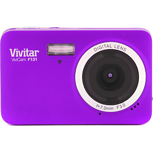 Vivitar ViviCam F131 Digital Camera (Purple)