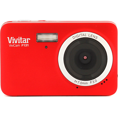 Vivitar ViviCam F131 Digital Camera (Red)