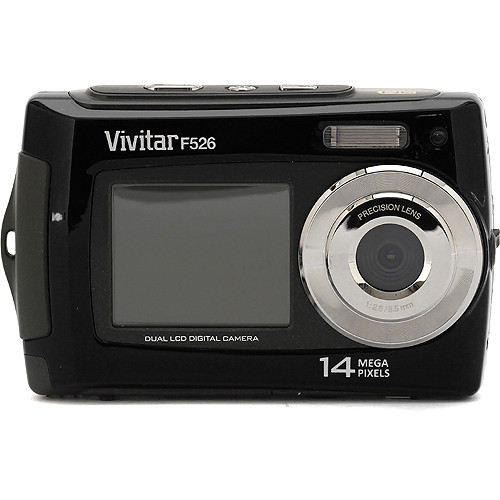 Vivitar ViviCam F526 Dual LCD Digital Camera (Black)