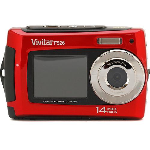 Vivitar ViviCam F526 Dual LCD Digital Camera (Red)