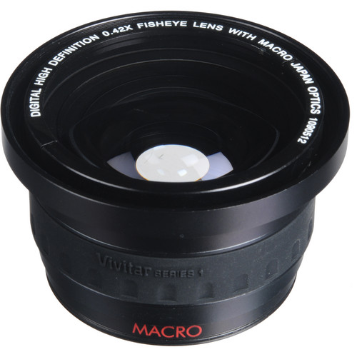 Vivitar 46mm 0.42x Fisheye Lens with Macro Adapter