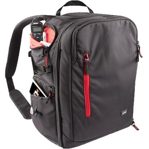 Vivitar DKS-42 Multi-Chamber DSLR Camera Backpack (Black)