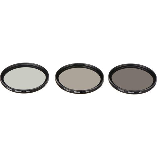 Vivitar 49mm Three-Piece Solid Neutral Density Filter Kit