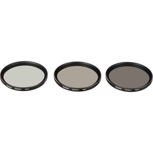 Vivitar 49mm Three-Piece Solid Neutral Density Filter Kit