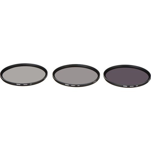 Vivitar 77mm Three-Piece Solid Neutral Density Filter Kit