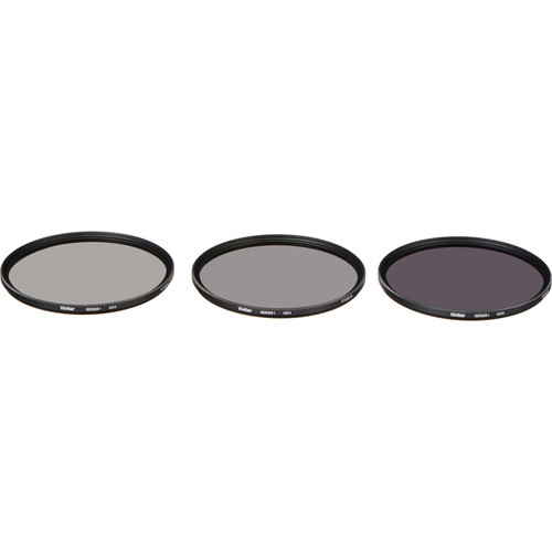 Vivitar 82mm Three-Piece Solid Neutral Density Filter Kit