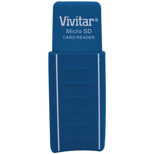 Vivitar Micro SD Card Reader / Writer (Blue)