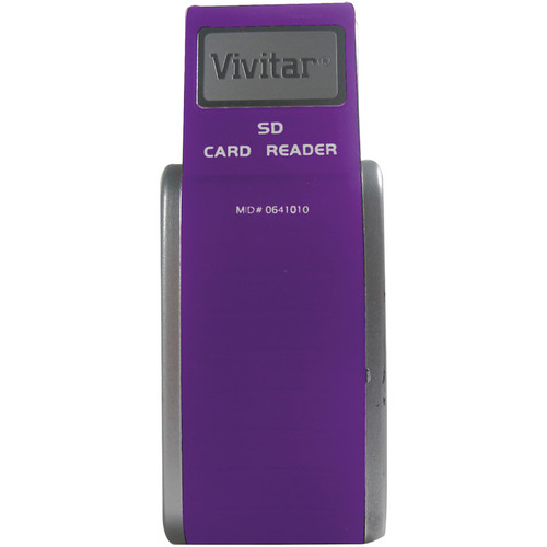 Vivitar SD Card Reader / Writer (Purple)