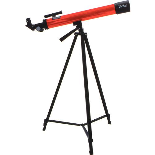 Vivitar 75160 50mm f/12 Refractor Telescope (Red)
