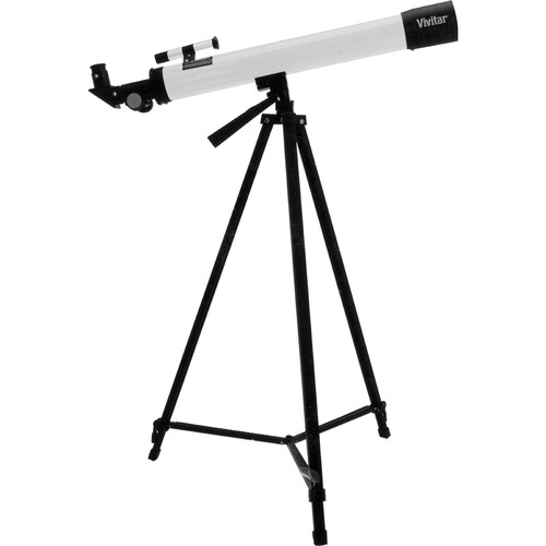 Vivitar 75160 50mm f/12 Refractor Telescope (White)
