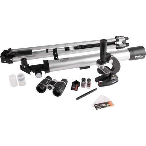 Vivitar TELMIC-40 Telescope, Microscope, and Binocular Kit (Black)