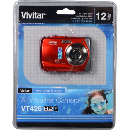 Vivitar ViviCam T426 Digital Camera (Red)