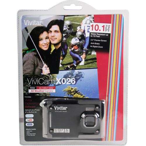 Vivitar ViviCam X026 Digital Camera (Black)