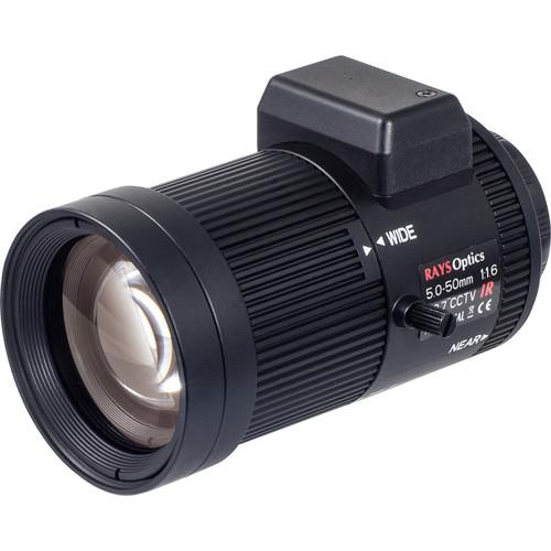 Vivotek CS-Mount 5-50mm f/1.6 Varifocal Lens with DC Auto-Iris