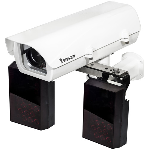 Vivotek IP816A-LPC License Plate Camera with Housing & IR Emitter Kit (12-40mm, Black)