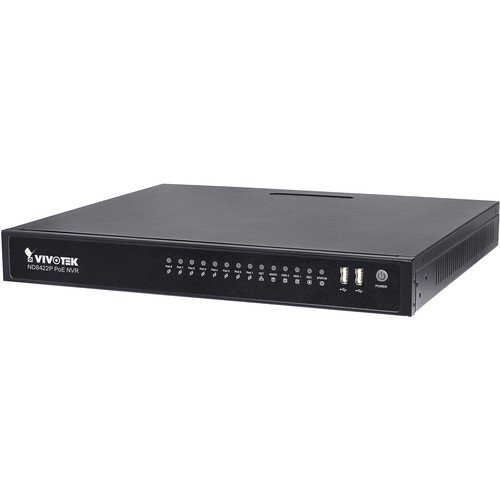 Vivotek ND8422P 16-Channel Embedded Plug-and-Play NVR (2TB)