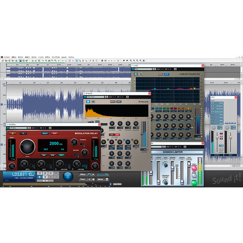 Internet Co. Sound it! 8 Pro Audio Editing and Mastering Suite with Sonnox Restoration Plug-Ins (Windows, Download)