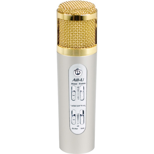 VocoPro All-U Karaoke Mic - Portable All-In-One Karaoke Microphone for iOS / Android