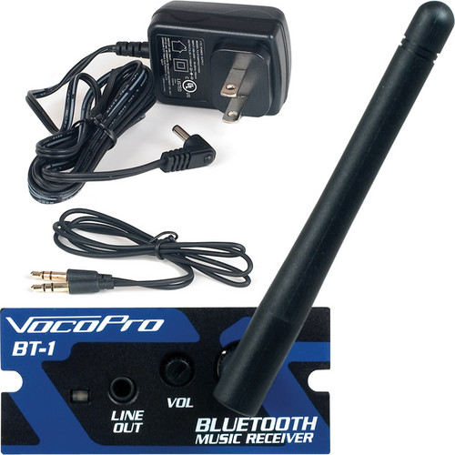 "VocoPro BT-1L Professional Bluetooth Music Receiver with Power Adapter & 1/8"" Patch Cable"