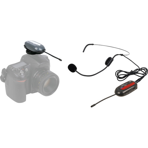 VocoPro Commander-FILM-HEADSET Camera-Mount UHF Wireless Headset Microphone System (Group 2: 915 to 921.5 MHz)