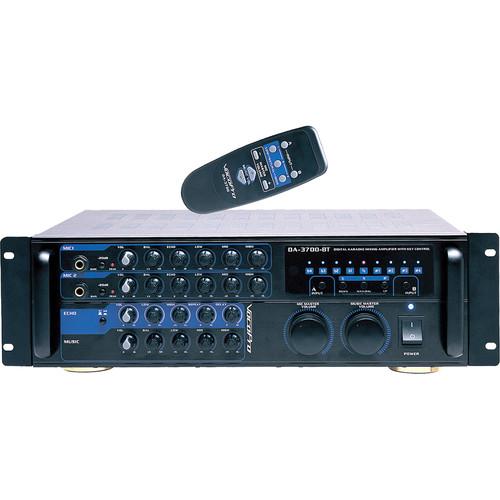 VocoPro DA-3700 BT 200W Karaoke Mixing Amplifier with Digital Key Control & Bluetooth Receiver