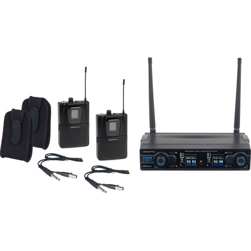 VocoPro Dual Channel Digital Wireless Guitar System with Mic-On-Chip Technology