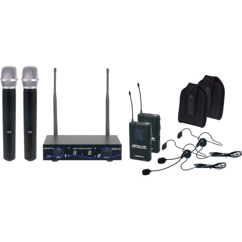 VocoPro Digital-32- Ultra Dual-Channel Digital Wireless Handheld/Headset/Instrument System