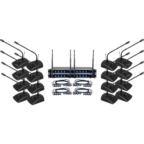VocoPro 16-Channel UHF Digital Wireless Conference System