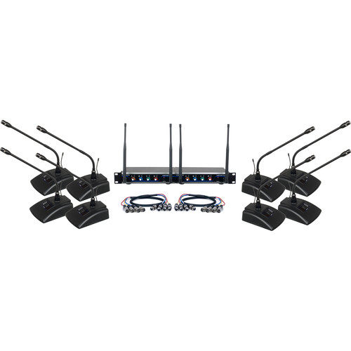 VocoPro 8-Channel UHF Digital Wireless Conference System (900 MHz)