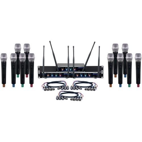 VocoPro Acapella-12 Twelve-Channel Digital Wireless System with Handheld Microphones