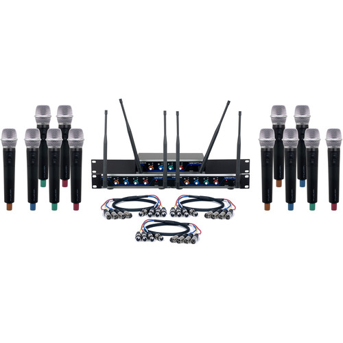 VocoPro Hybrid-Acapella-12 Twelve-Channel Hybrid Wireless System with Handheld Microphones