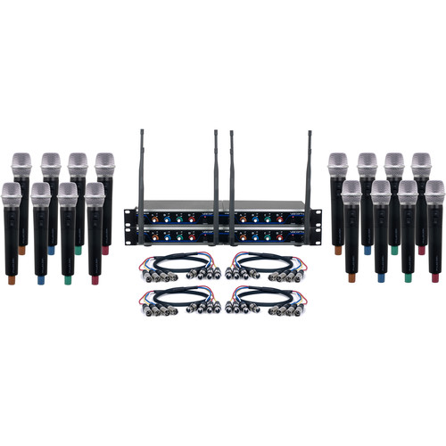 VocoPro Acapella-16 Sixteen-Channel Digital Wireless System with Handheld Microphones