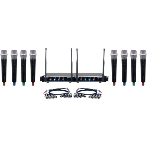 VocoPro Acapella-8 Eight-Channel Digital Wireless System with Handheld Microphones