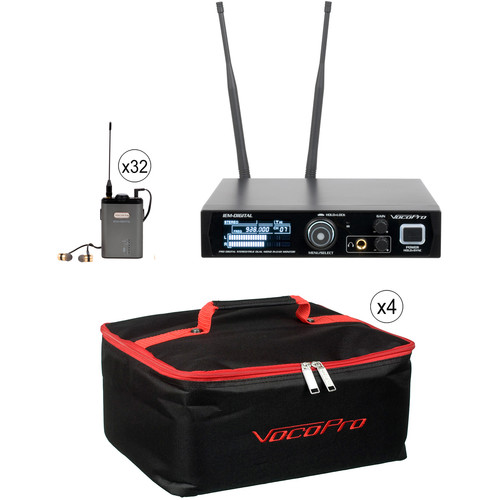 VocoPro IEM-Assist-32 Professional 24-Bit Digital Stereo Wireless Assistive Listening System (900 MHz)