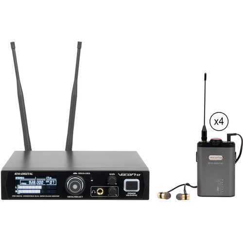 VocoPro IEM-Digital 4 Wireless Stereo In-Ear Monitoring System