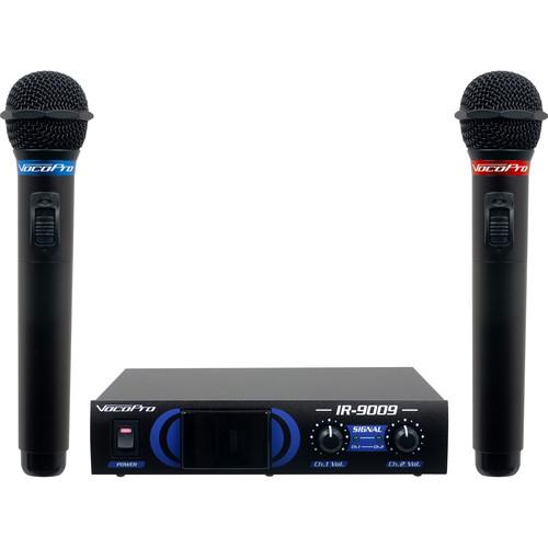 VocoPro IR-9009 Infrared Dual Wireless Microphone System (Orange/Green)
