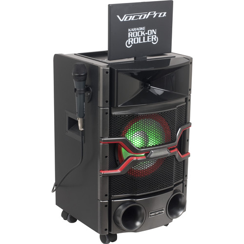 VocoPro DVD Karaoke System with Display Monitor, Lightshow, and Powered Speaker