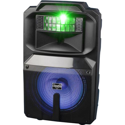 """VocoPro Karaoke Thunder-1200 12"""" 600W DJ/Karaoke Party Speaker with RGB Derby Light"""