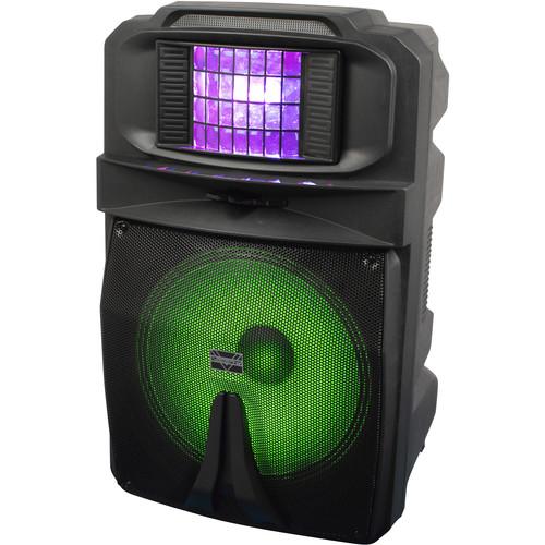 """VocoPro Karaoke Thunder-1500 15"""" 1000W DJ/Karaoke Party Speaker with RGB Derby Light"""