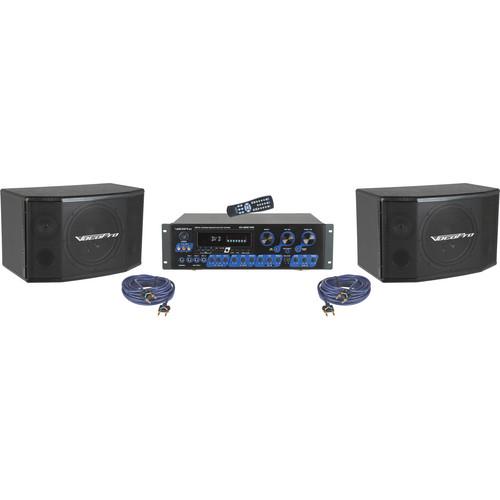 VocoPro KRS-2 Digital Karaoke Mixing Amplifier System with Speaker Package