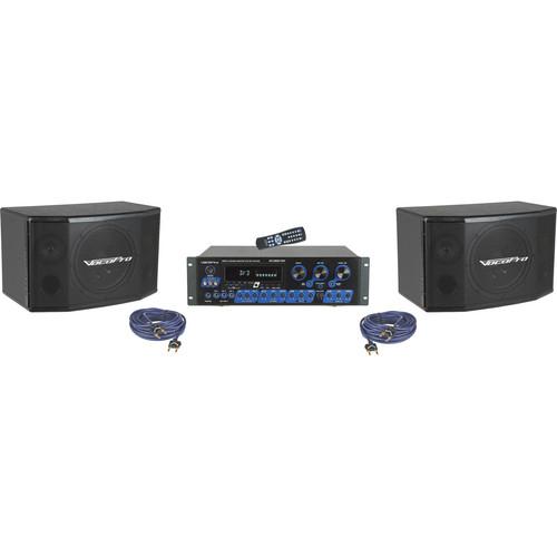 VocoPro KRS-4 Digital Karaoke Mixing Amplifier System with Speaker Package