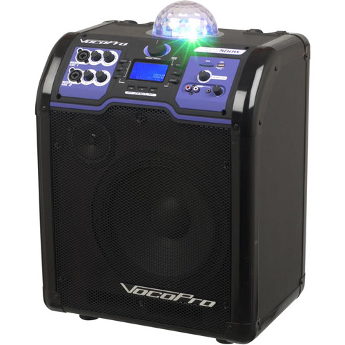 VocoPro LightShow Portable Bluetooth-Enabled 100W All-In-One PA System