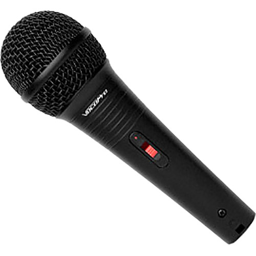 VocoPro MK-38 PRO Wired Karaoke Microphone with Cable (Black Leatherette)